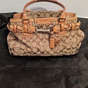 Coach Canvas Handbag, light brown